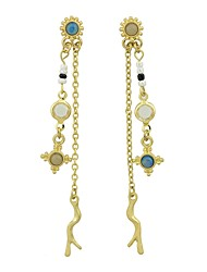 cheap -Women's Mismatched Drop Earrings - Imitation Tourmaline Fashion Gold For Gift / Date