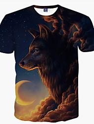 billige Herremode og tøj-Herre - Dyr Trykt mønster Punk & gotisk Gade T-shirt