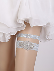 Недорогие -Кружева Свадьба / Европейский стиль Свадебный подвязка С Стразы Подвязки Свадьба / Вечерние