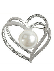 cheap -Women's Heart Brooches - Bohemian / Elegant Silver Brooch For Gift / Daily