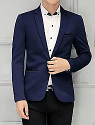 cheap -Men's Slim Blazer-Solid Colored,Basic Notch Lapel