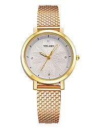 baratos -Mulheres Quartzo Relógio de Moda Chinês Relógio Casual Outro Banda Minimalista Colorido Preta Azul Prata Vermelho Dourada Rosa Amarelo