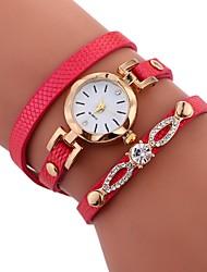 baratos -Mulheres Quartzo Relógio de Moda Chinês imitação de diamante PU Banda Casual Fashion Preta Branco Azul Vermelho Marrom