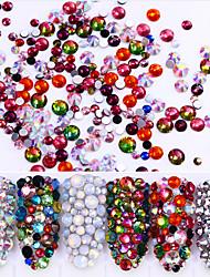 baratos -6 pcs Diamante / Estilo de cristal / strass / Cristal / Strass arte de unha Manicure e pedicure Casamento / Festa / Dia a Dia Artistíco / Retro / Brilhante