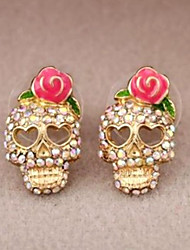 cheap -Stud Earrings - Skull Rock Gold For Daily