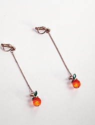 cheap -Long Drop Earrings - Pineapple Simple, Korean, Fashion Gold For Gift / Daily