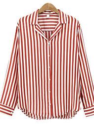 preiswerte -Damen Gestreift-Geschäftlich Hemd