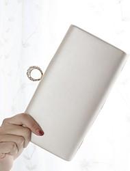 Недорогие -Жен. Мешки PU Вечерняя сумочка Кристаллы Цвет шампанского / Черный / Серебряный