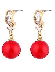 abordables -Femme Zircon / Perle Boucles d'oreille goutte - Perle, Zircon Ethnique Rouge Pour Cérémonie / Formel