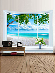 cheap -Beach Theme Landscape Wall Decor 100% Polyester Classic Modern Wall Art, Wall Tapestries Decoration