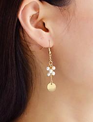 cheap -Women's Imitation Pearl Drop Earrings - Casual / Fashion Gold Circle Earrings For Daily / Date