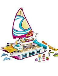 cheap -Sunshine Catamaran kids Bricks toy Building Blocks 651pcs Exquisite Nautical Toy Girls' Toy Gift