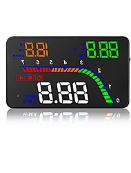 cheap -T100 4inch LED Wired LED indicator Multi-functional display Plug and play for Truck Bus Car Display KM / h MPH Driving Speed Measure