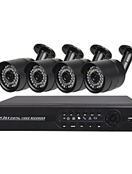 cheap -4 CH AHD DVR Kit with 1080N DVR and 4 x 720P waterproof cameras offers super surveillance locally and remote with remote mobile phone viewing.1.