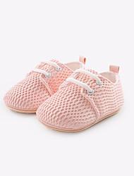 baratos -Para Meninas Para Meninos sapatos Tule Primavera Outono Primeiros Passos Conforto Oxfords para Casual Cinzento Rosa claro