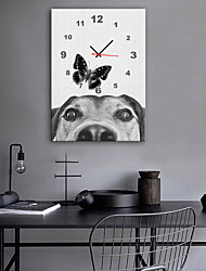 cheap -Modern Style Modern / Contemporary Canvas Cuboid Indoor,Battery Wall Clock