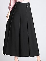 cheap -Women's Basic Slim Bootcut Pants - Solid Colored High Waist / Spring / Summer