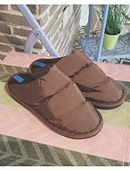 cheap -Men's Shoes Fabric Fall Winter Comfort Slippers & Flip-Flops for Casual Black Dark Brown