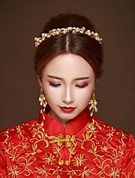 cheap -Alloy Drop Earrings / Hair Accessory with Acrylic 1pack Wedding Headpiece