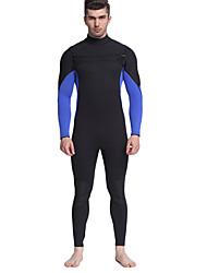 cheap -MYLEDI Men's Full Wetsuit 3mm Neoprene / Rubber Diving Suit Thermal / Warm Long Sleeve - Swimming / Diving / Surfing Back Zipper