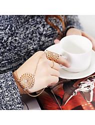 abordables -Bracelets Bagues - Fleur énorme Bracelet Or / Argent Pour Mariage / Rendez-vous