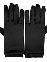 Недорогие -Спандекс До запястья Перчатка Свадебные перчатки / Вечерние перчатки С Искусственный жемчуг