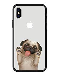 preiswerte -Hülle Für Apple iPhone X iPhone 8 Plus Muster Rückseite Hund Cartoon Design Tier Hart Acryl für iPhone X iPhone 8 Plus iPhone 8 iPhone 7