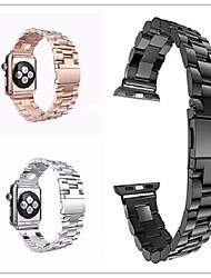 abordables -Bracelet de Montre  pour Apple Watch Series 4/3/2/1 Apple papillon Boucle Acier Inoxydable Sangle de Poignet
