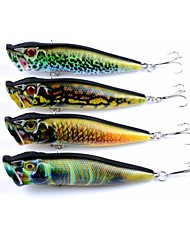 cheap -4pcs pcs Popper Fishing Lures Popper Hard Bait ABS Outdoor Sports & Outdoors Sea Fishing Bait Casting Spinning Jigging Fishing Freshwater