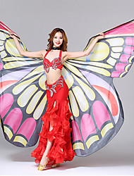 cheap -Dance Accessories Beautiful Girl Stage Props Women's Performance Polyester Butterfly Design Printing Wave-like Butterly Theme Fashion