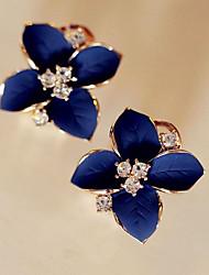 cheap -Women's Flower Stud Earrings - Classic / Fashion Royal Blue Earrings For Daily