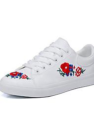 povoljno -Žene Cipele PU Proljeće Jesen Udobne cipele Sneakers Ravna potpetica Okrugli Toe za Kauzalni Obala Crn