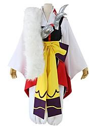 baratos -Inspirado por InuYasha Sesshomaru Anime Fantasias de Cosplay Ternos de Cosplay Outro Manga Longa Colete Calças Arco Mais Acessórios Faixa