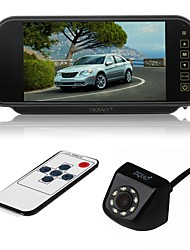 cheap -ZIQIAO 7inch LCD CCD Wired 170 Degree Car Reversing Monitor Waterproof Multi-functional display LCD Screen for Car