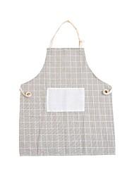 abordables -Cuisine Les fournitures de nettoyage Lin / coton Tabliers simple 1pc