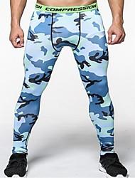 Недорогие -Муж. # Компрессионные брюки Лосины для бега Брюки Легкость Быстровысыхающий Анатомический дизайн Большие размеры камуфляж / Спандекс / Эластичная