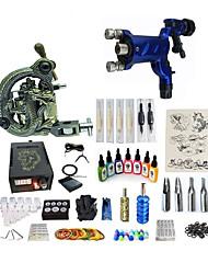 abordables -Machine à tatouer Kit pour débutant 1 x Machine à tatouer rotative pour le traçage et l'ombrage 1 x sculpté machine à tatouer pour la