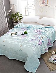 preiswerte -Gemütlich 1 Bettdecke 1 Stk. Steppdecke, Handgefertigt Reaktivdruck Blumen Sommer