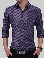 Недорогие -Муж. Рубашка Классический Гусиная лапка