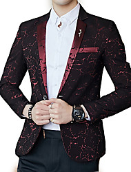 cheap -Men's Simple Blazer - Floral