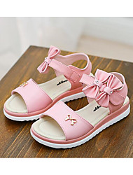 cheap -Girls' Shoes Cowhide Summer Comfort Sandals for Casual White Pink