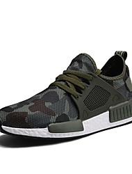 cheap -Men's Light Soles Customized Materials Spring &  Fall Comfort Sneakers Gray / Army Green