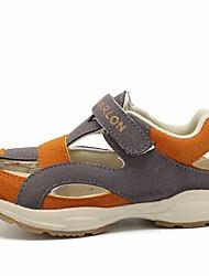billige -Pige Drenge Sko Læder Sommer Komfort Sandaler for Afslappet Mørkeblå Grå Lys pink