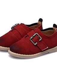 Недорогие -Мальчики обувь Кожа Весна Осень Обувь для малышей На плокой подошве для на открытом воздухе Винный Темно-зеленый