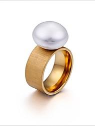 billiga -Dam Knogring - Europeisk, Koreanska 6 / 7 / 8 Guld / Svart / Silver Till Bröllop / Dagligen