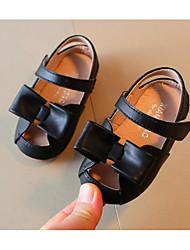 Недорогие -Дети обувь Полиуретан Лето Обувь для малышей Удобная обувь Сандалии для Повседневные Черный Бежевый
