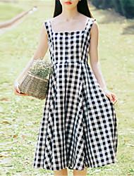povoljno -Žene Jednostavan Swing kroj Haljina Prugasti uzorak Midi