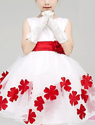 baratos -Bébé Para Meninas Floral Floral Sem Manga Vestido / Algodão