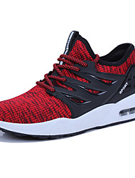 cheap -Men's Mesh Spring / Summer Sporty / Comfort Athletic Shoes Walking Shoes Black / Gray / Red