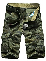 cheap -Men's Military Plus Size Cotton Loose Shorts Chinos Pants - Camouflage Print